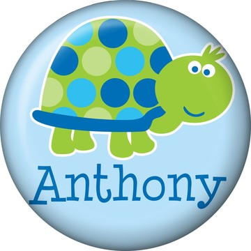 First Birthday Turtle Personalized Mini Magnet (each)