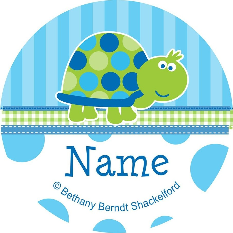 View larger image of First Birthday Turtle Personalized Mini Stickers (Sheet of 24)