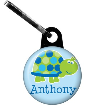 First Birthday Turtle Personalized Zipper Pull (each)