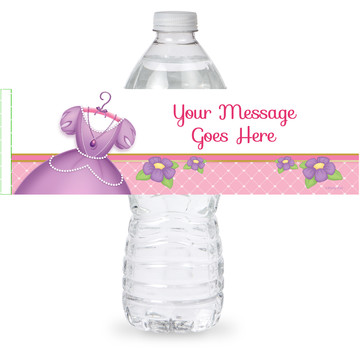 First Princess Personalized Bottle Label (Sheet of 4)
