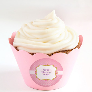 First Princess Personalized Cupcake Wrappers (Set of 24)