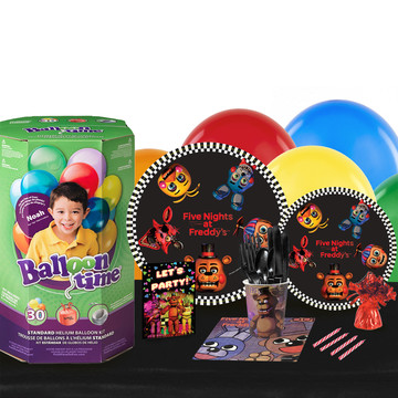 Five Nights at Freddy's 16 Guest Party Pack - Tableware Helium Tank