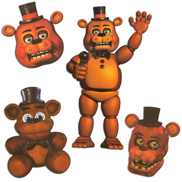 Five Nights at Freddy's Freddy Character Cutouts (4 Pieces)
