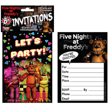 Five Nights at Freddy's Invitations (8)