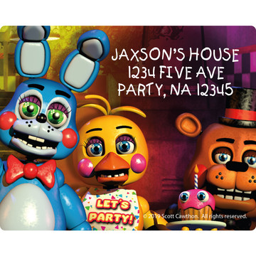 Five Nights at Freddy's Personalized Address Labels (Sheet of 15)