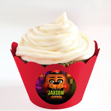 Five Nights at Freddy's Personalized Cupcake Wrappers (Set of 24)