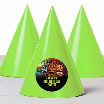 Five Nights at Freddy's Personalized Party Hats (8 Count)