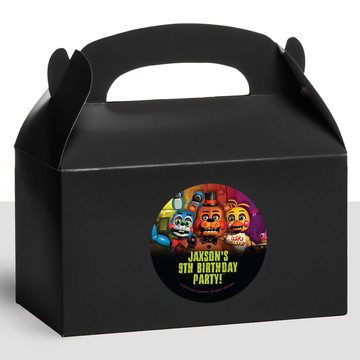 Five Nights at Freddy's Personalized Treat Favor Boxes (12 Count)