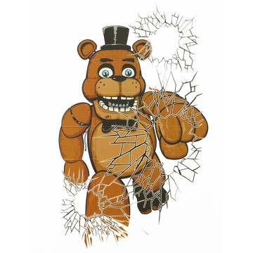 Five Nights at Freddy's Window Covers (2 Pack)