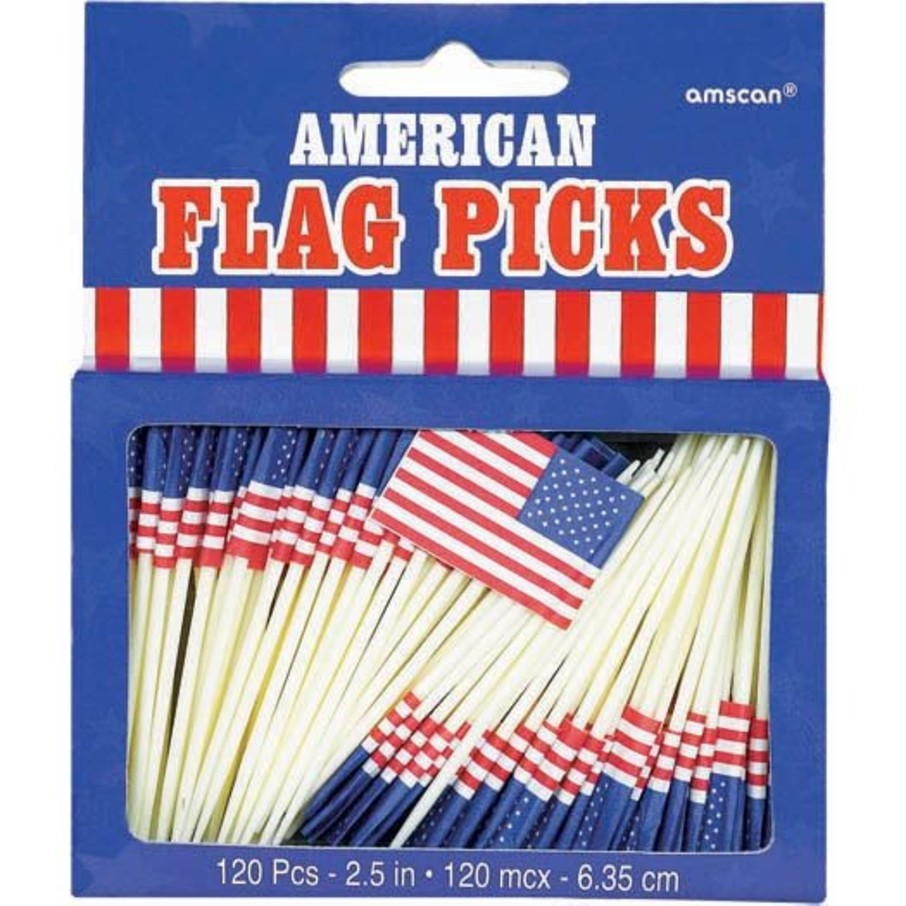 View larger image of Flag Picks (120 Count)