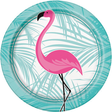 "Flamingo 7"" Cake Plates (8 Count)"