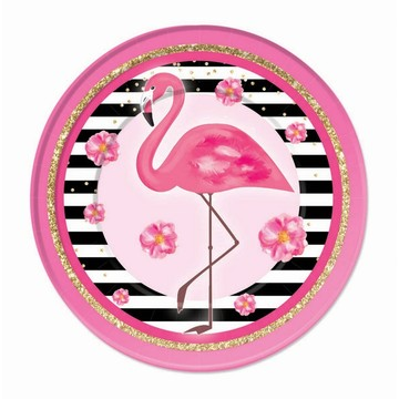 "Flamingo 9"" Lunch Plate (8)"