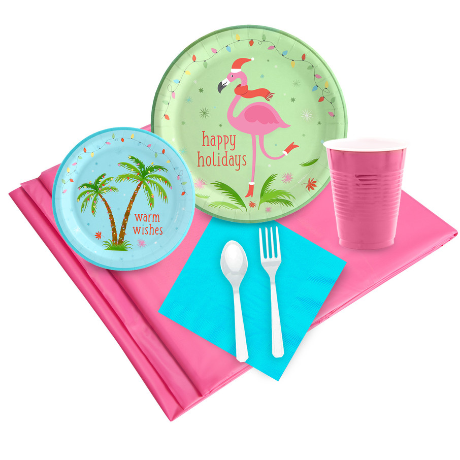 View larger image of Flamingo Cheer 24 Guest Party Pack