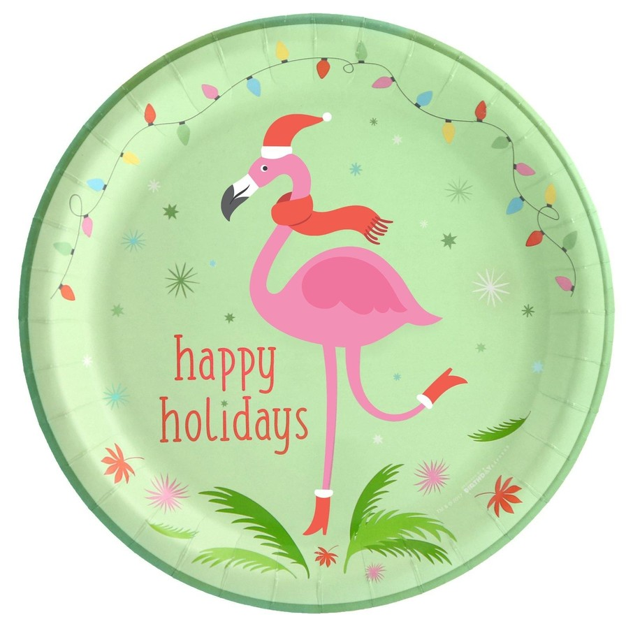 View larger image of Flamingo Cheer Dinner Plate (8)