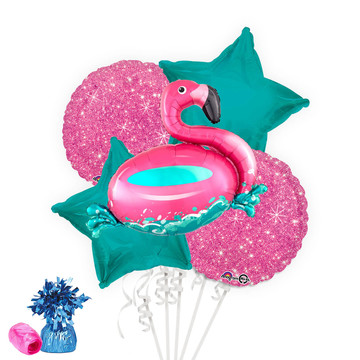 Flamingo Fun Balloon Bouquet Kit