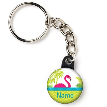 "Flamingo Personalized 1"" Mini Key Chain (Each)"