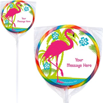 Flamingo Personalized Lollipops (12 Pack)