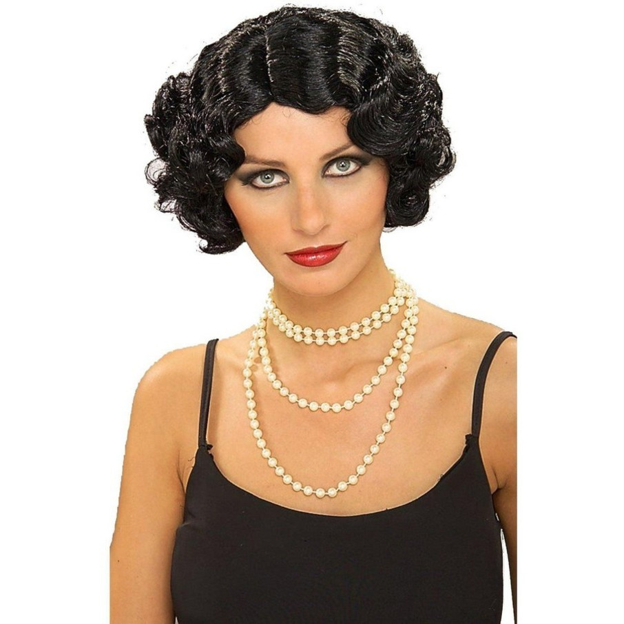 View larger image of Flapper Wavy Wig (Black)