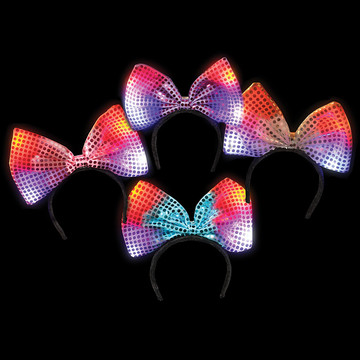 Flashing Bow Headband One size