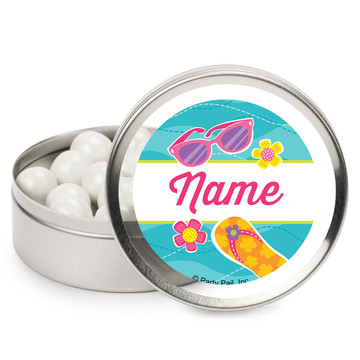 Flip Flop Fun Personalized Mint Tins (12 Pack)