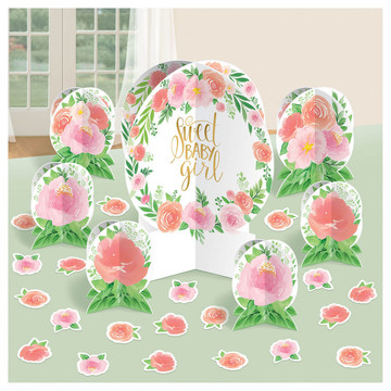 Floral Baby Centerpiece Decoration Kit