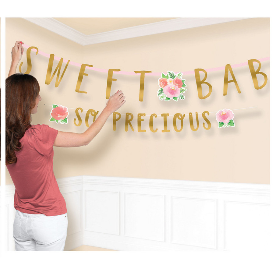 View larger image of Floral Baby Jumbo Letter Banner (2)