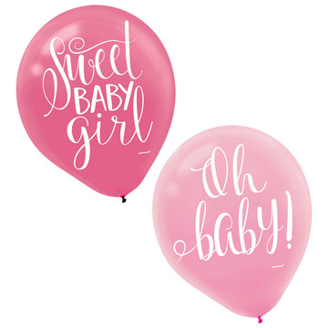 Floral Baby Latex Balloons (15)