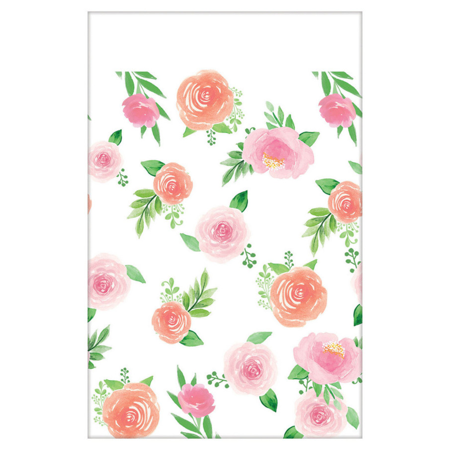 View larger image of Floral Baby Paper Table Cover (1)