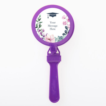 Floral Graduation Personalized Clappers (Set Of 12)