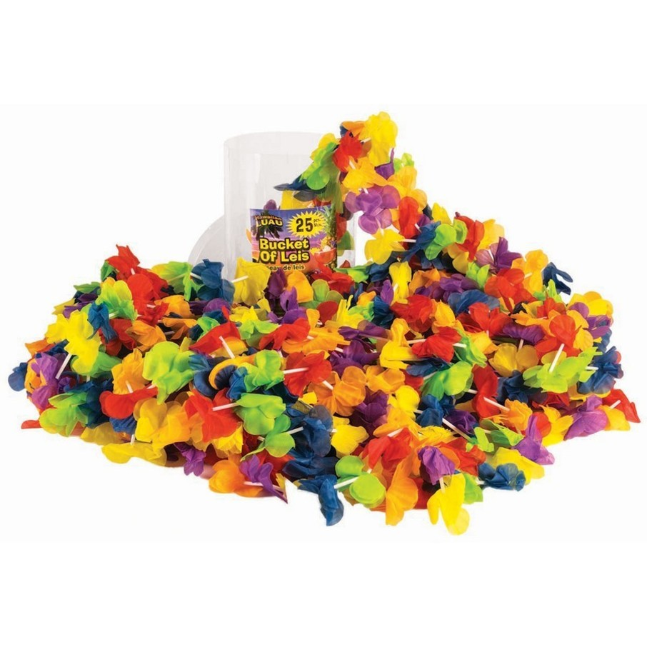View larger image of Floral Multi Color Bucket of Leis (25 Count)