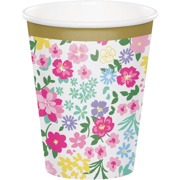 Floral Tea Party 9oz. Cup (8)