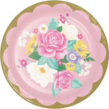 Floral Tea Party Lunch Plate (8)