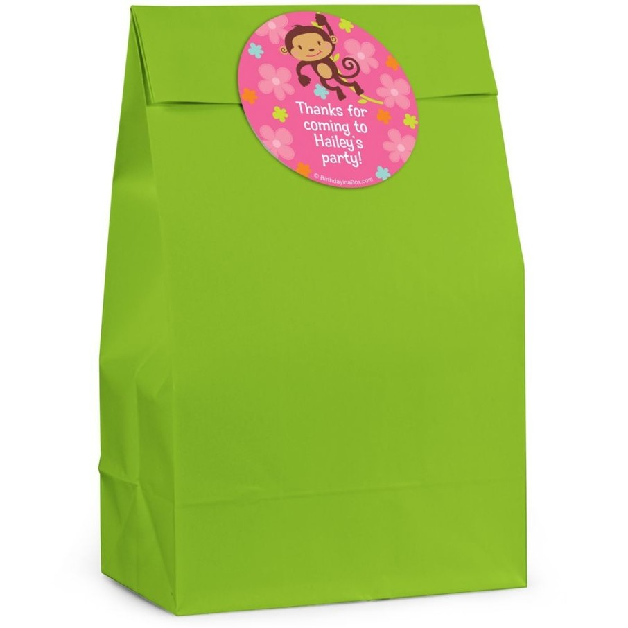 View larger image of Flower Monkey Personalized Favor Bag (Set Of 12)