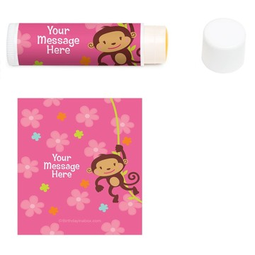 Flower Monkey Personalized Lip Balm (12 Pack)