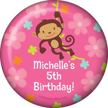 Flower Monkey Personalized Magnet (each)