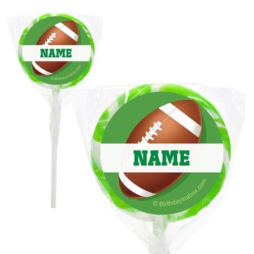 """Football Party Personalized 2"""" Lollipops (20 Pack)"""