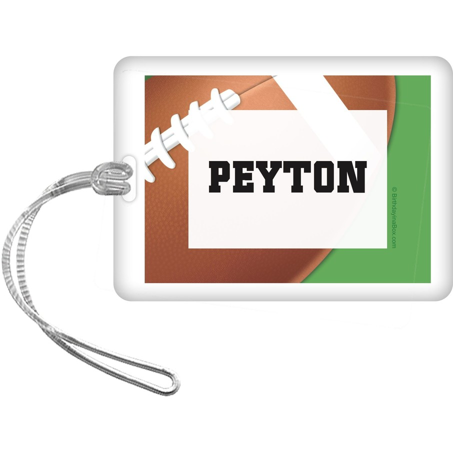 View larger image of Football Party Personalized Bag Tag (each)