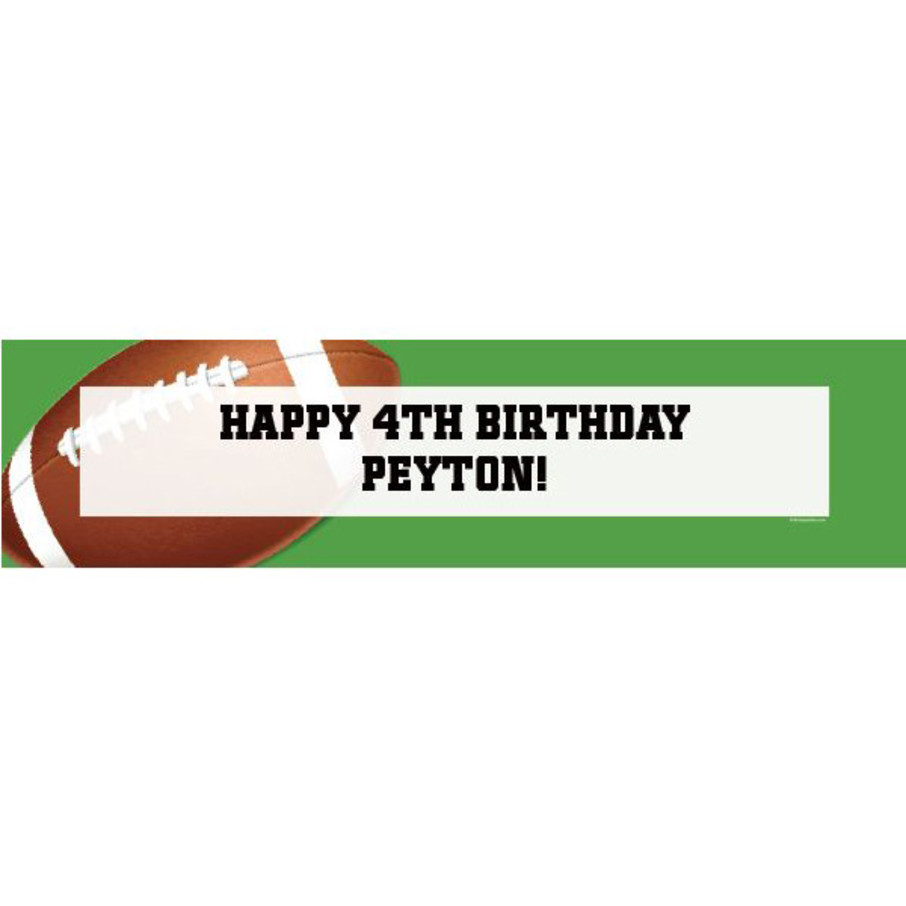 View larger image of Football Party Personalized Banner (each)