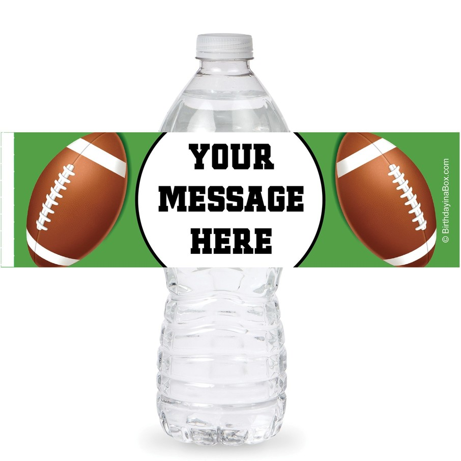 View larger image of Football Party Personalized Bottle Labels (Sheet of 4)