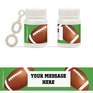 Football Party Personalized Bubbles (18 Pack)