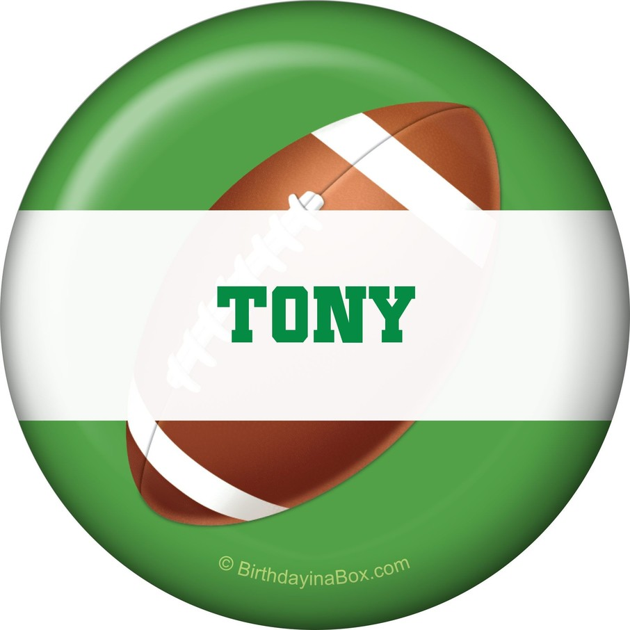 View larger image of Football Party Personalized Button (each)