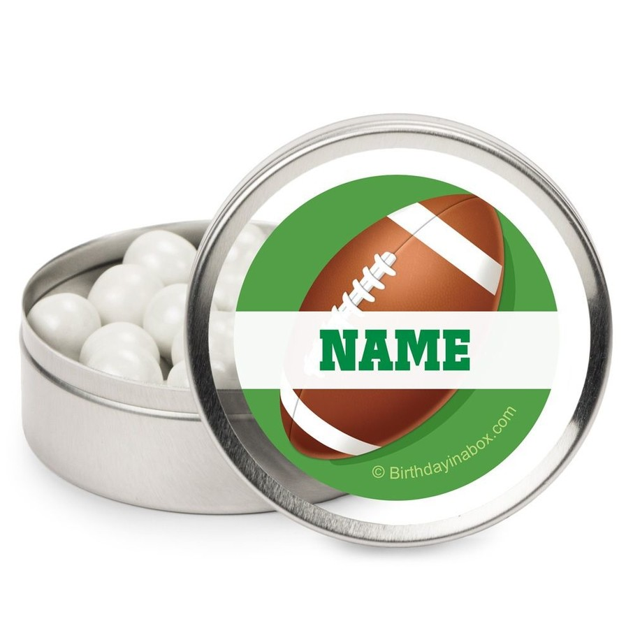 View larger image of Football Party Personalized Candy Tins (12 Pack)