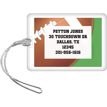 Football Party Personalized Luggage Tag (each)
