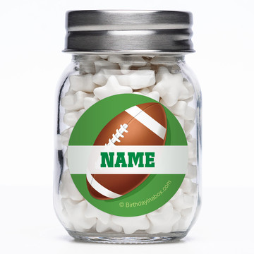 Football Party Personalized Mason Style Jar (Set of 12)
