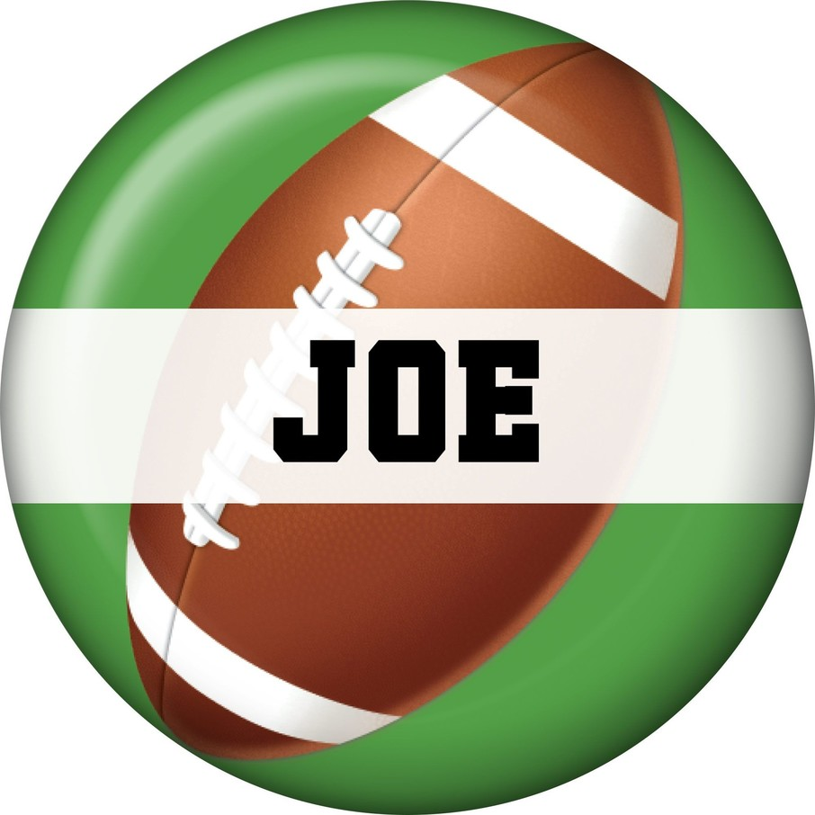 View larger image of Football Party Personalized Mini Button (each)