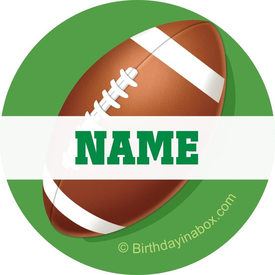 View larger image of Football Party Personalized Mini Stickers (Sheet of 24)