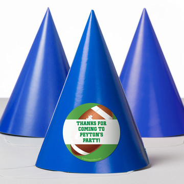 Football Party Personalized Party Hats (8 Count)