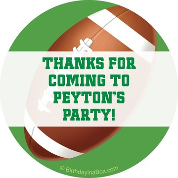 Football Party Personalized Sticker