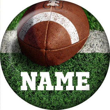 Football Personalized Mini Button (Each)