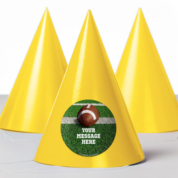 Football Personalized Party Hats (8 Count)
